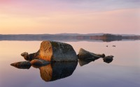 Calm lake at sunset, Hasselfors, Sweden
