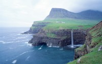 Cliffs and sea in Faroe Islands