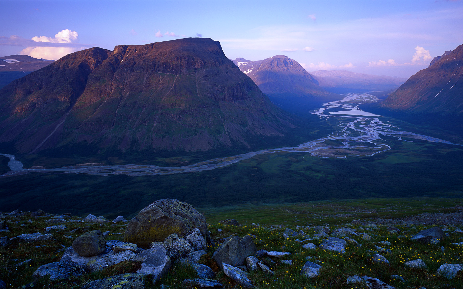 Rapa River Valley in Sarek National Park,  Sweden