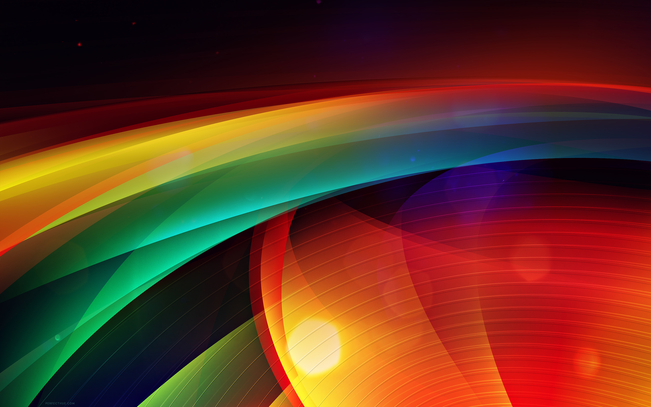WIdesecreen Aurora Stripes Wallpaper 2560x1600