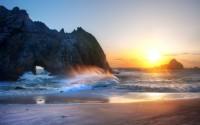 sunset rock beach
