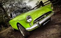 green old timer car