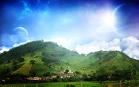 hills and planets