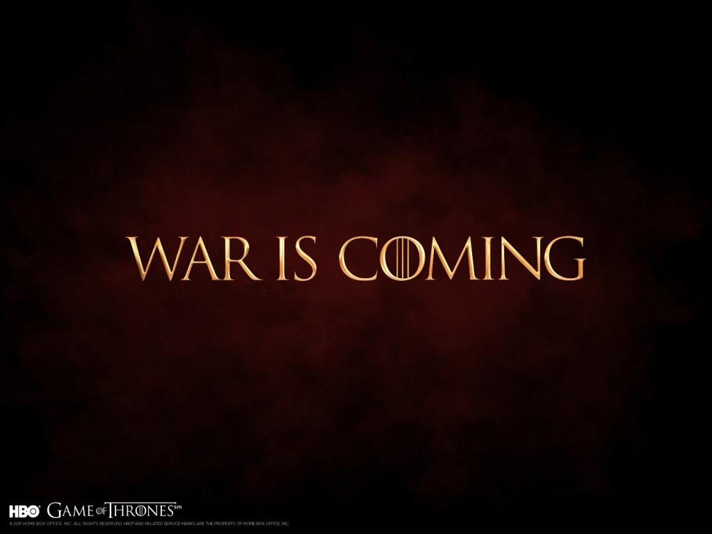 war is coming game of thrones wallpaper