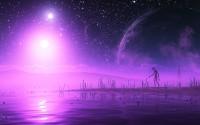 pink fantasy planets