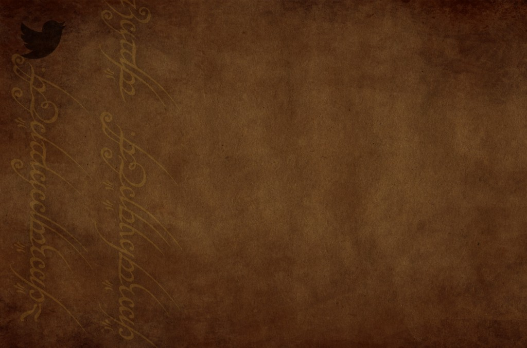 LOTR twitter background