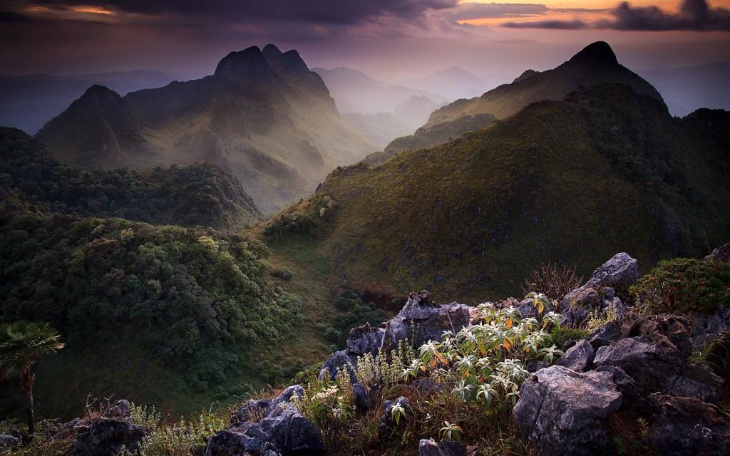 Doi Luang Chiang Dao limestone mountain, Chiang Mai Province, Thailand