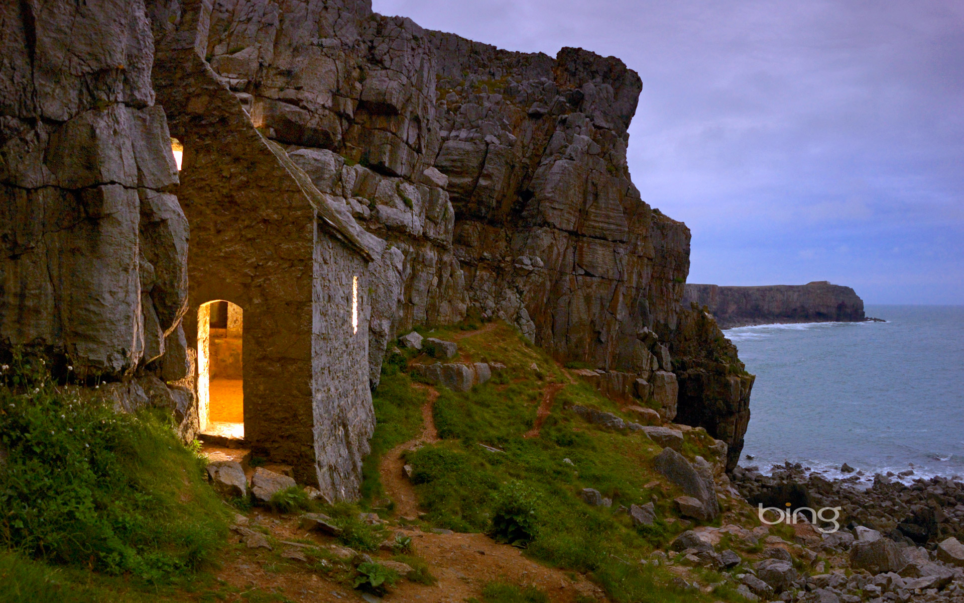 Saint Govans Chapel In Pembrokeshire Coast National Park