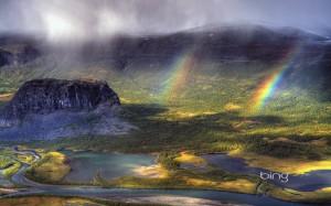Rapa River Valley in Sarek National Park, Norbotten County, Sweden