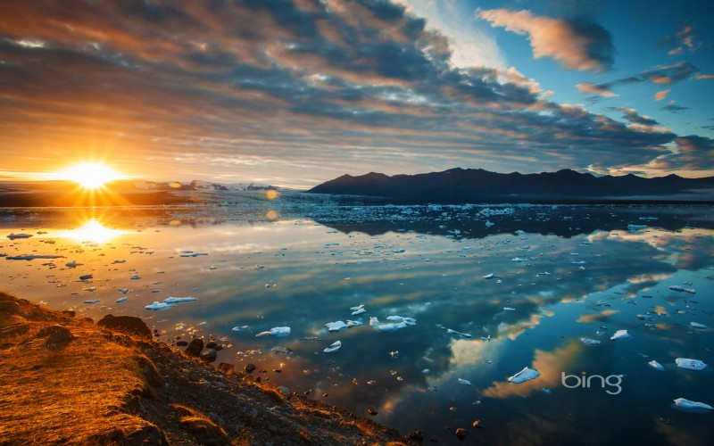 Jökulsárlón, A Glacial Lagoon In Southeast Iceland