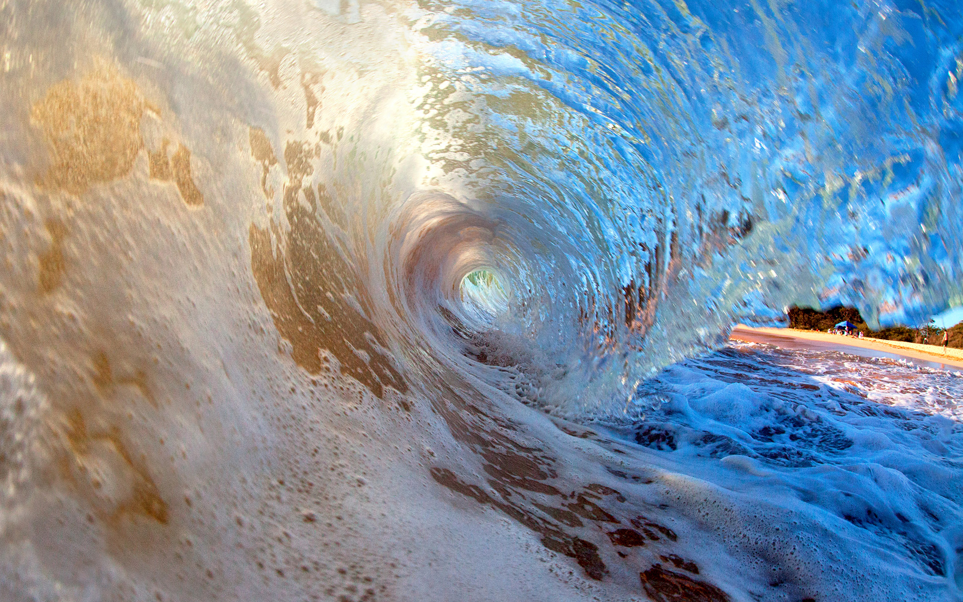 breaking wave at secret beach (makena cove), maui | hd wallpapers