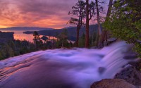 Eagle Falls and Emerald Bay at sunrise at Lake Tahoe in California