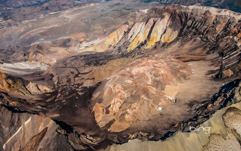 mount saint helen aerial view