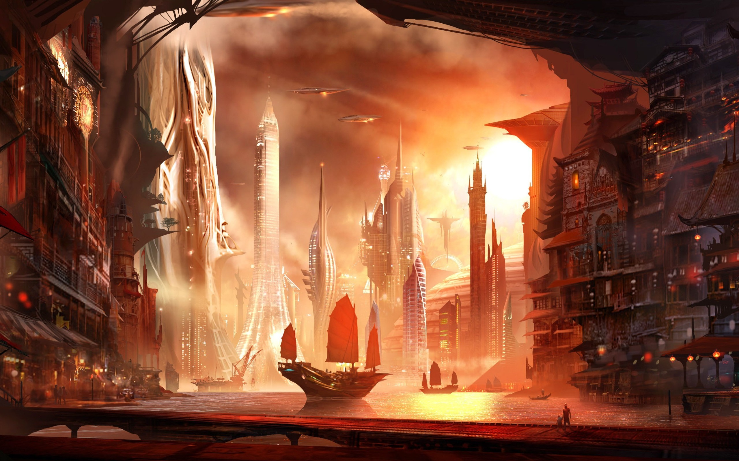 Fantasy City Wallpaper Hd: Fantasy City Hd Wallpaper 2560x1600