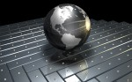metal globe of the world wallpaper