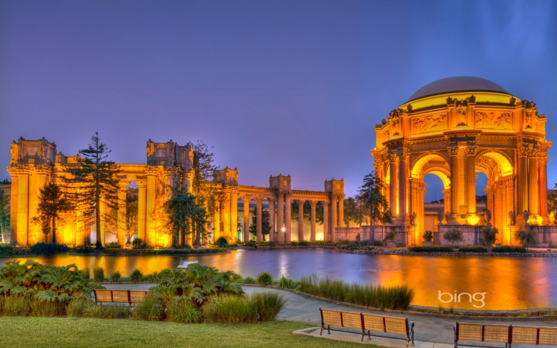 Palace of Fine Arts in the Marina District of San Francisco