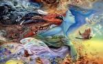 women abstract art wallpapers