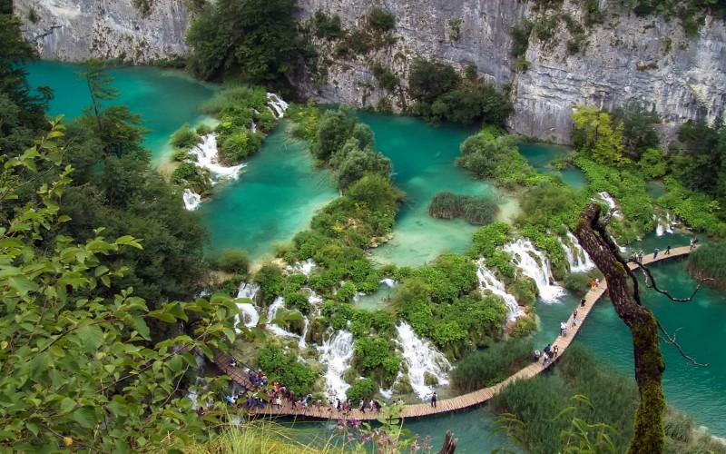 Plitvice Lakes aerial view