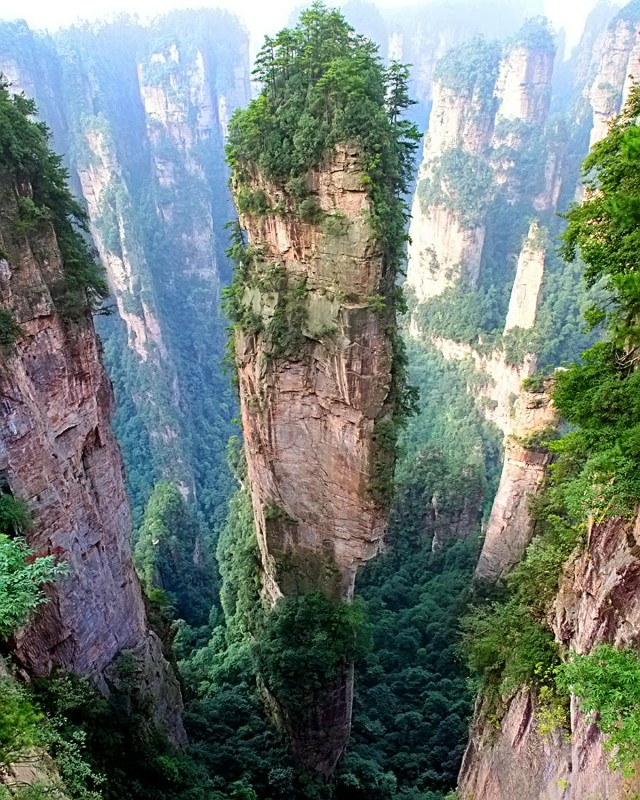 The Tianzi Mountians, China