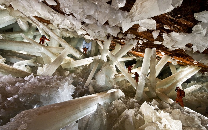 The Cave of giant crystals in Mexico