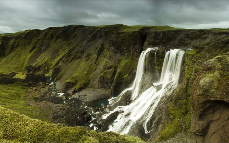Fagrifoss waterfall on Iceland