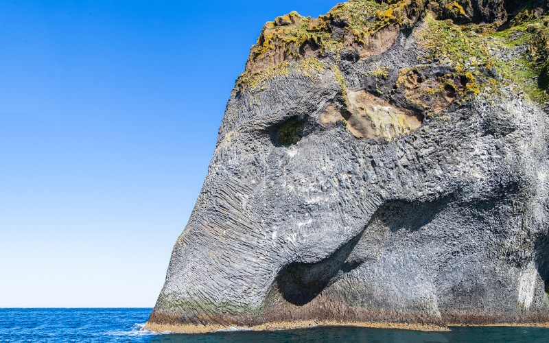 The Elephant rock on Heimaey island