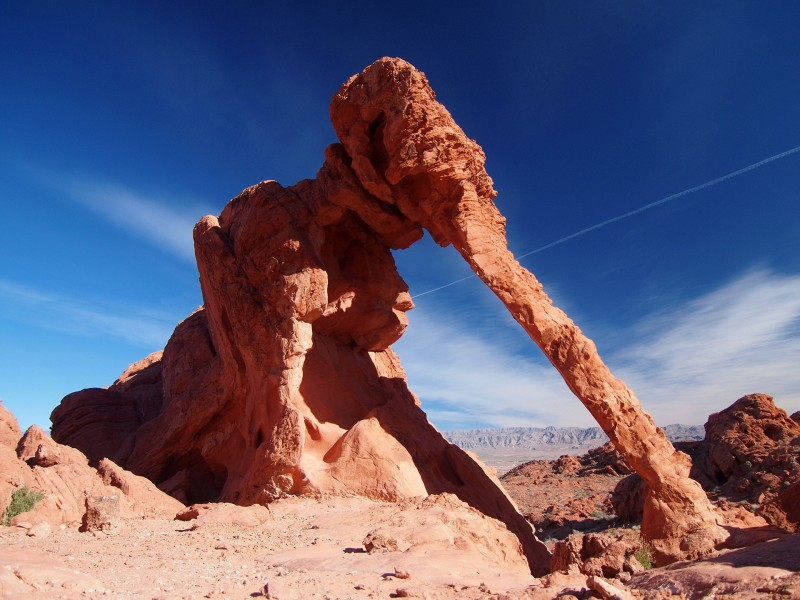 The Elephant Rock in the Valley of Fire State Park