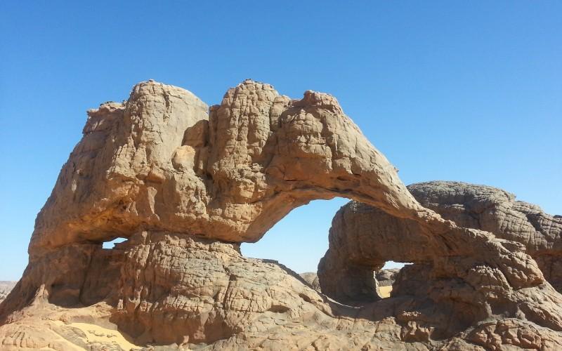 Elelphant Rock in Hogar Desert, Algeria