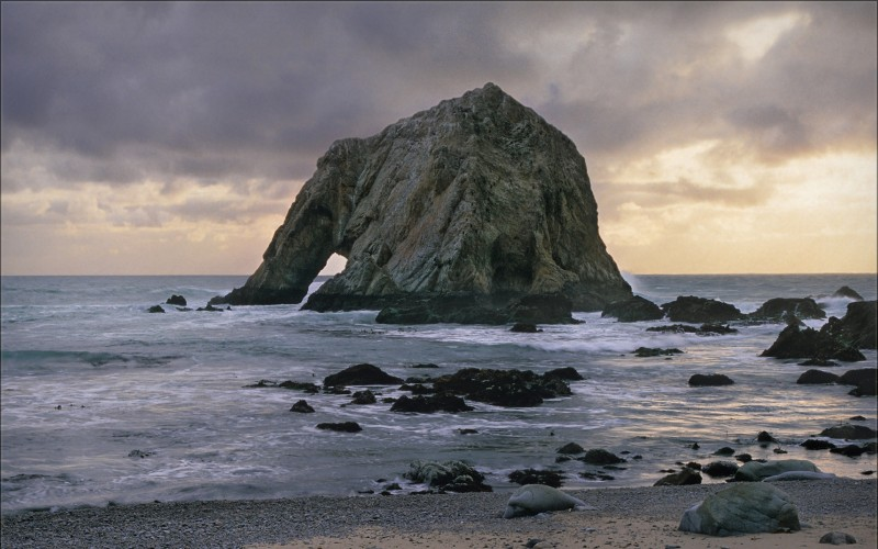 Elephant Rock in the Point Reyes National Seashore
