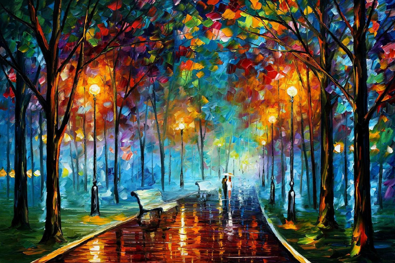leonid afremov 39 s modern impressionistic paintings hd wallpapers. Black Bedroom Furniture Sets. Home Design Ideas