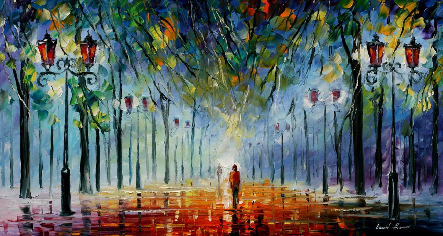 Leonid afremov 39 s modern impressionistic paintings hd for Tumblr painting art