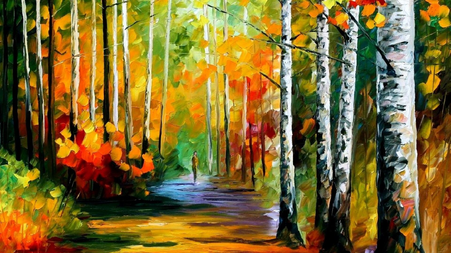 Line Art Painting Hd : Leonid afremov s modern impressionistic paintings hd