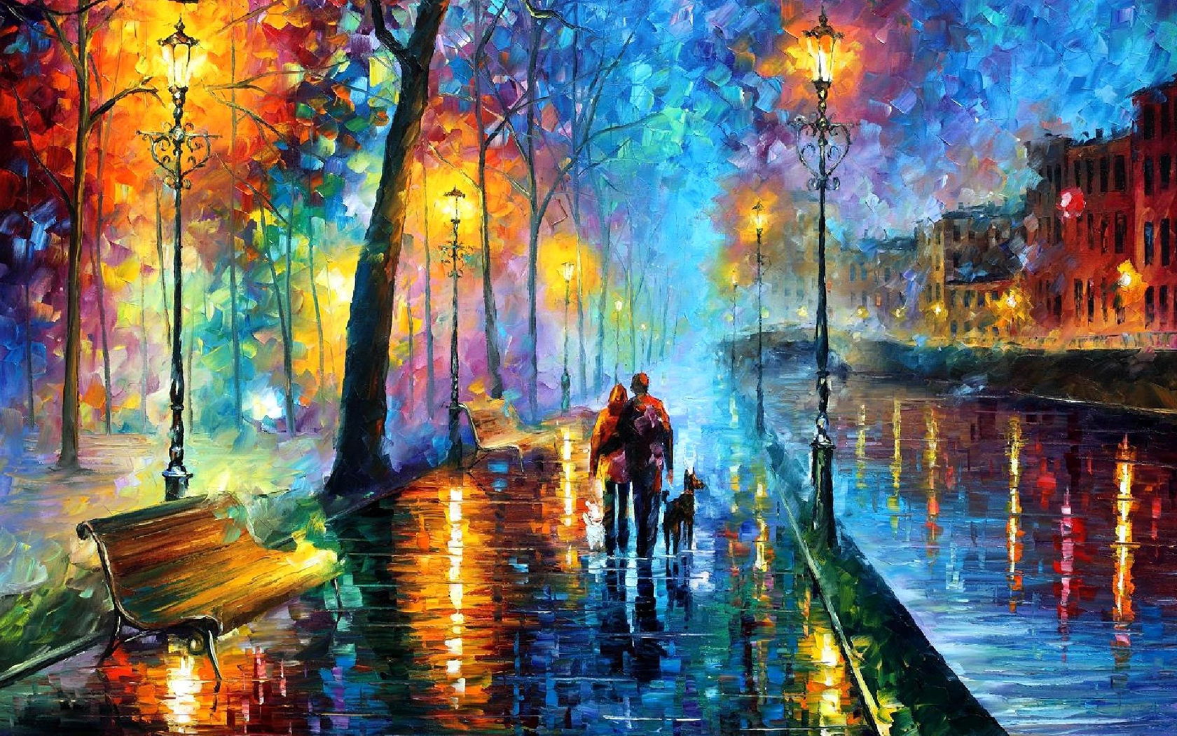 Hd wallpaper art - Leonid Afremov Impressionistic Paintings
