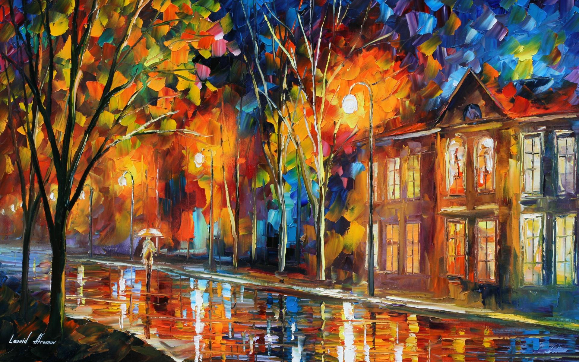 Modern Wallpaper For Walls Leonid Afremov S Modern Impressionistic Paintings Hd