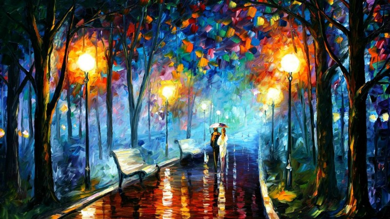 Leonid Afremov impressionistic paintings