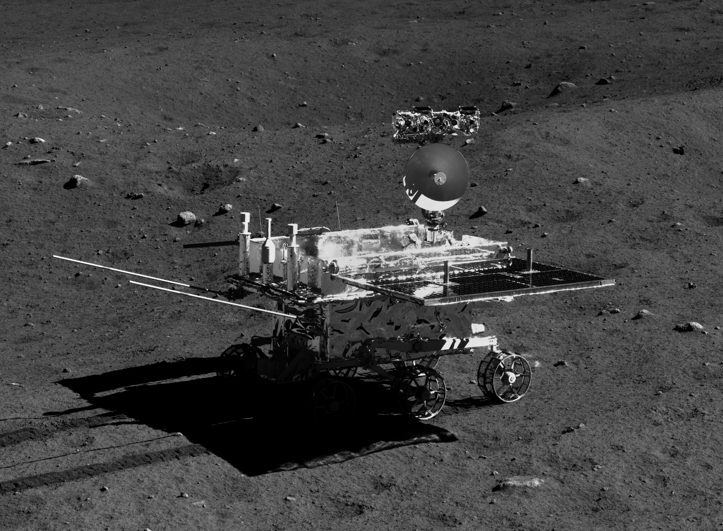 Rover Yutu on the Moon