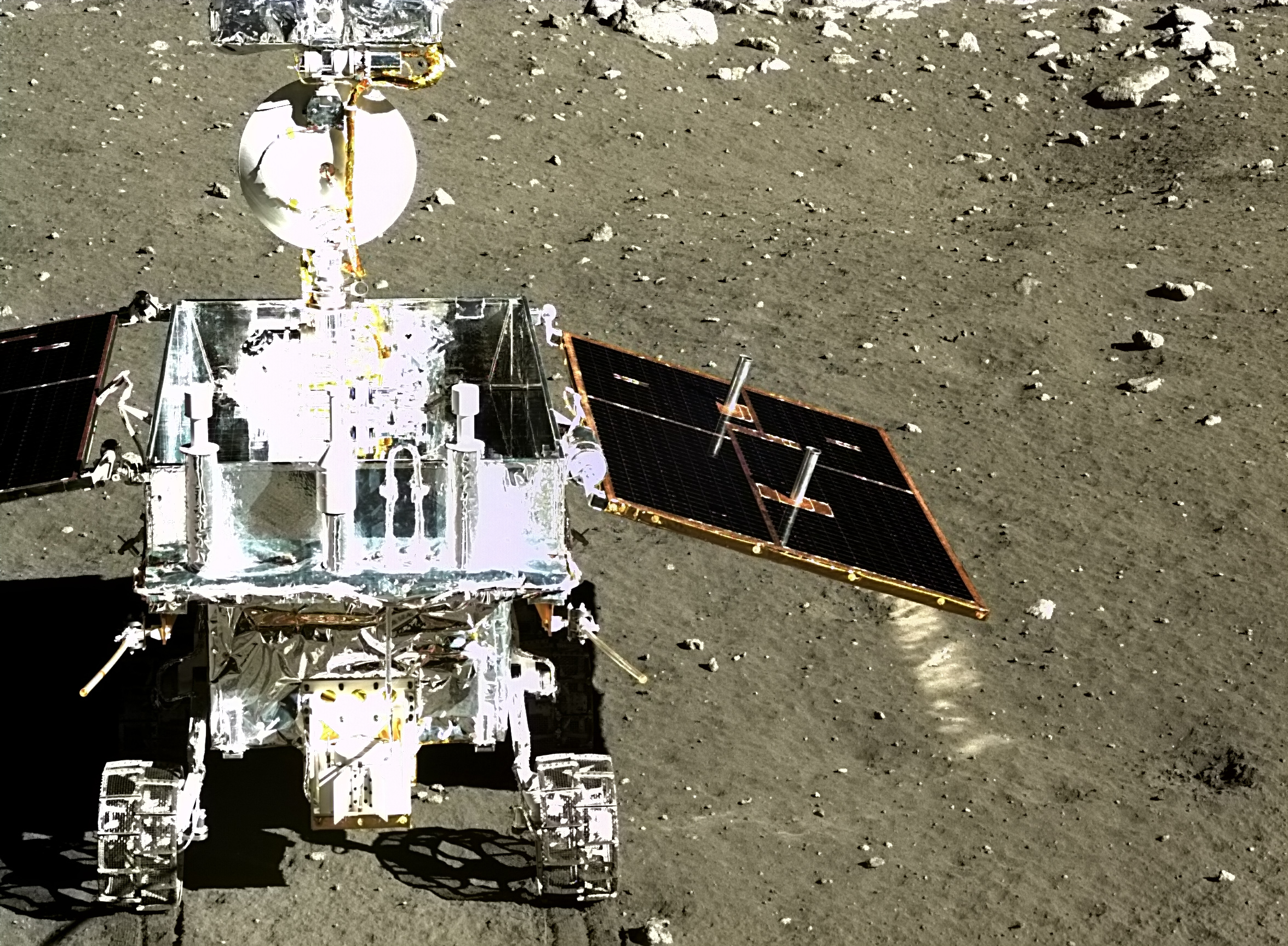 Chang'e 3 and Yutu images of the Moon