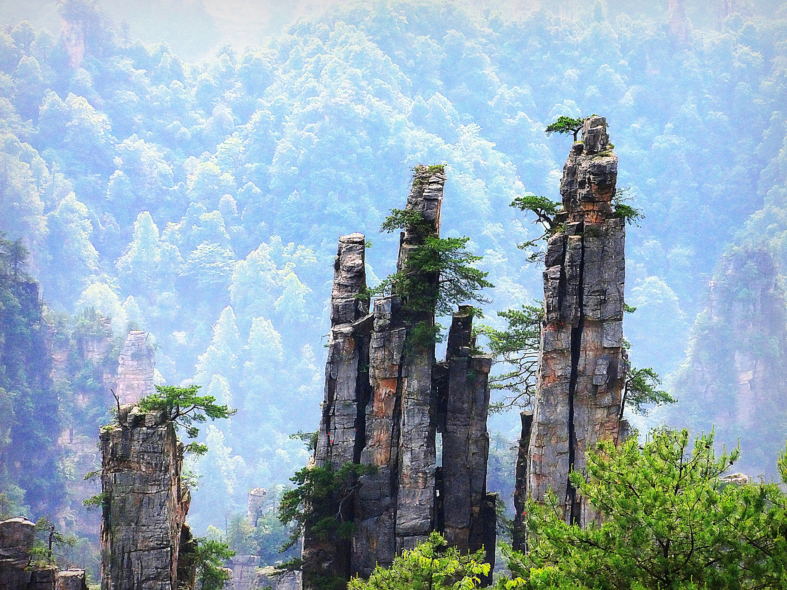 Zhangjiajie National Park Avatar S Hallelujah Mountains