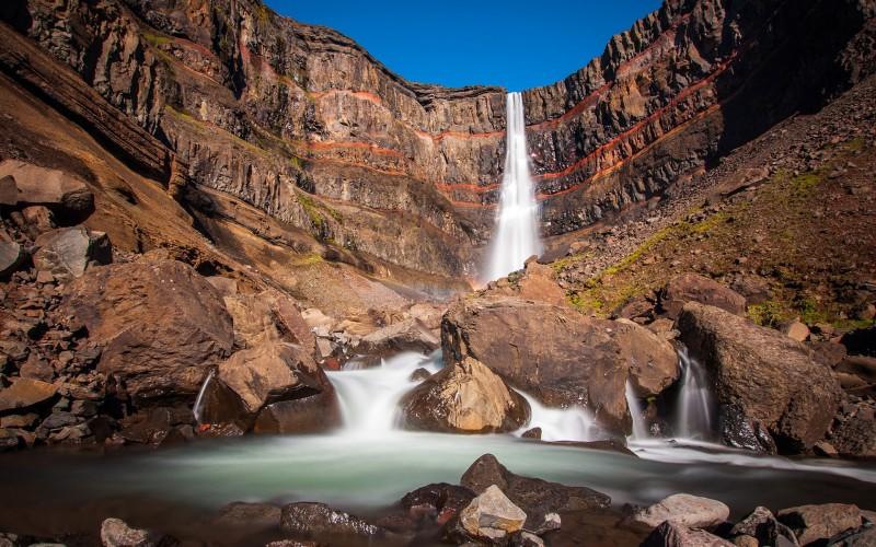 Iceland Waterfalls Hengifoss