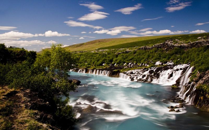 Iceland Waterfalls Hraunfossar